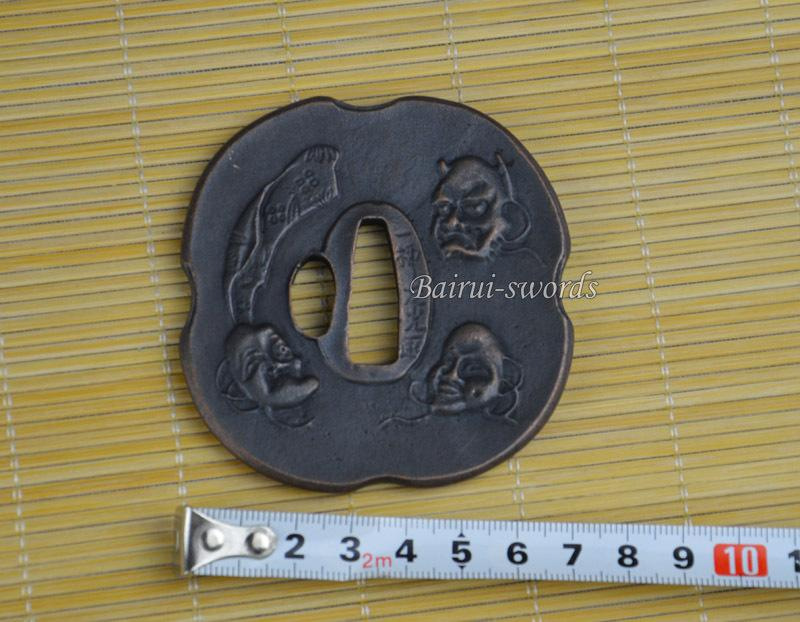 New Japanese Katana Tsuba Samurai Sword Alloy God Animal Guard Japanese Sword Fittings Worldwide