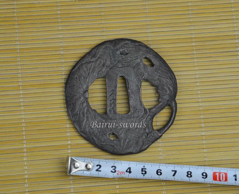 New Japanese Katana Tsuba Samurai Sword Alloy Lotus Guard Japanese Sword Fittings Worldwide