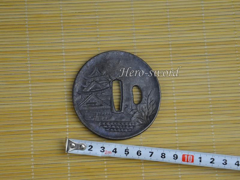 Japanese Katana Alloy Warrior Tsuba Samurai Sword Guard Sword Fitting