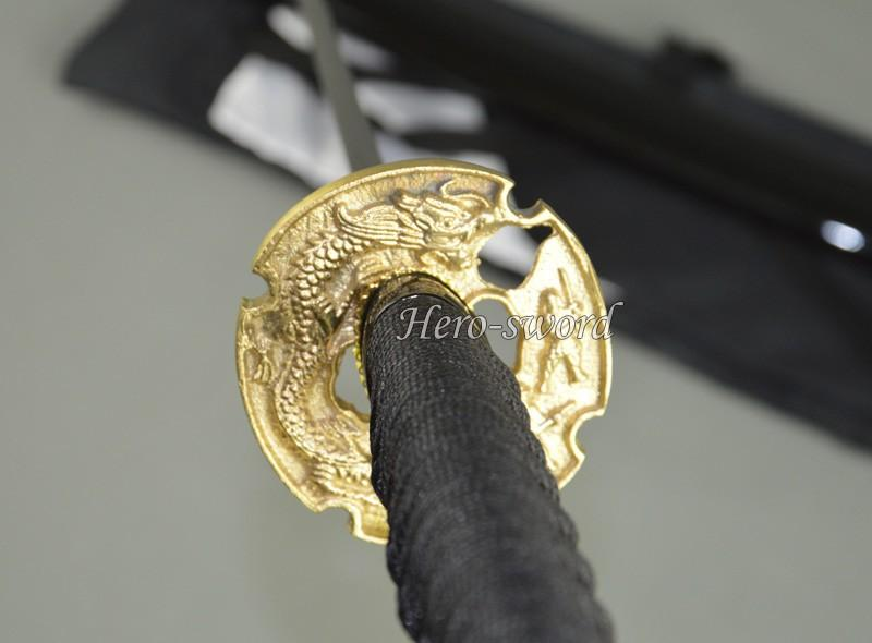 New Brass Dragon Japanese Katana Tsuba Samurai Sword Guard Alloy Sword Fitting
