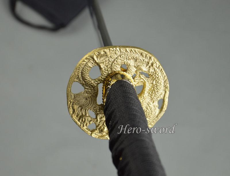 New Japanese Katana Dragon Tsuba Real Brass Samurai Sword Guard Sword Fitting