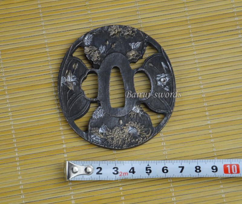 New Japanese Katana Flowers Tsuba Samurai Sword Alloy Guard Japanese Sword Fittings Worldwide