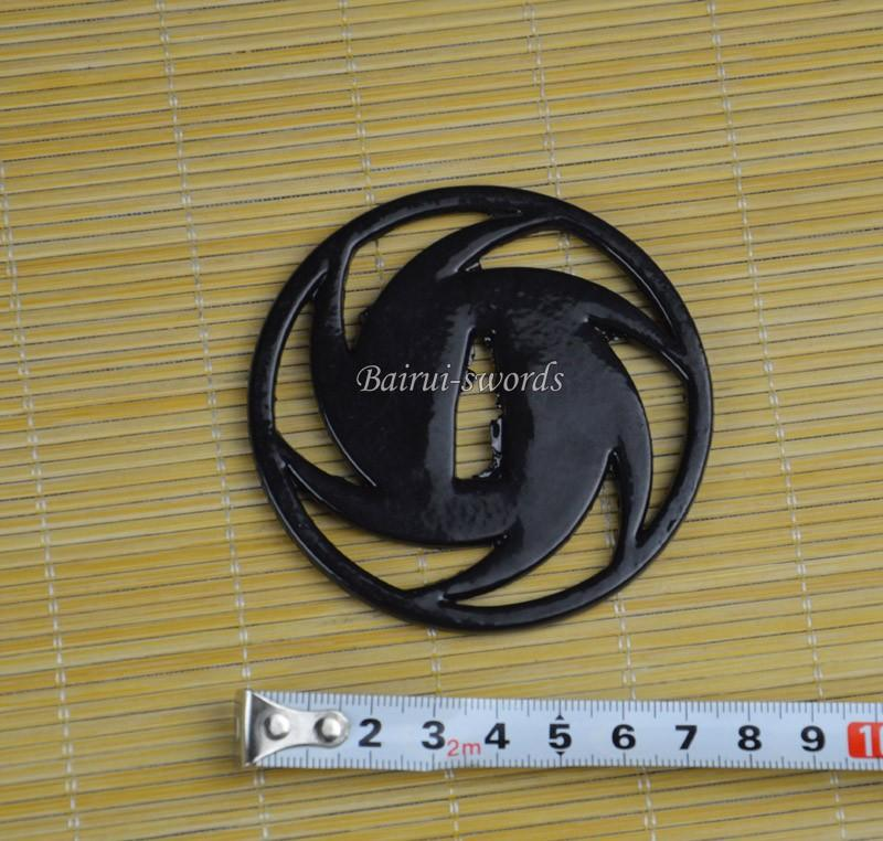 New Japanese Katana Whirlwind Tsuba Samurai Sword Guard Sword Fitting