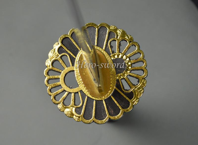 New Japanese Katana Sun Flower Tsuba Samurai Sword Guard Alloy Sword Fitting