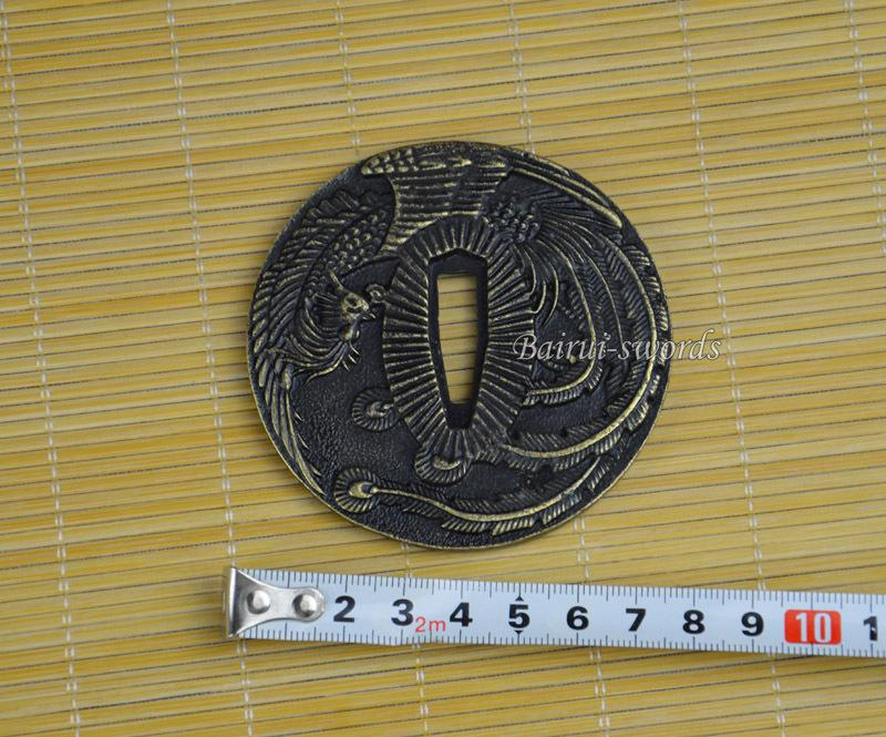 New Japanese Katana Tsuba Samurai Sword Alloy Phoenix Guard Japanese Sword Fittings